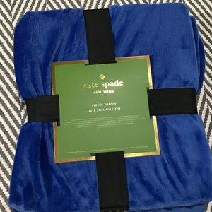 Kate Spade New Fleece Throws 50x70 multiple colors